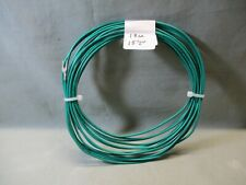 GREEN HOOKUP WIRE COIL,18 GA SOLID, 15', USED