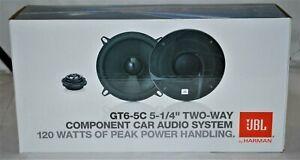"""JBL GT Series GT6-5C 5.25"""" 2-Way 120 Watt Car Component Speakers System NEW"""