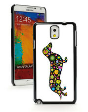 For Samsung Galaxy Note 2 3 4 5 Hard Case Cover 279 Dachshund Dog Stars Flowers