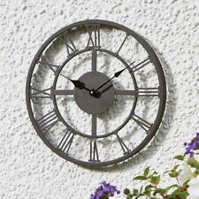 Jardin D'Extérieur Horloge Murale 35.6cm Imperméable Métal Traditionel Roman