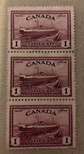 Canada Sg 406 F/U Strip Of 3 Cat £19,50