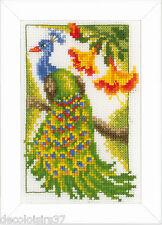 Broderie Point de Croix compté 3 Miniatures Oiseaux Exotiques Vervaco PN-0154071
