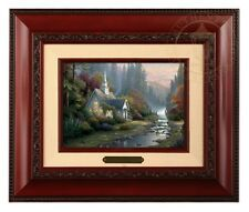 Thomas Kinkade Forest Chapel Framed Brushwork (Brandy Frame)