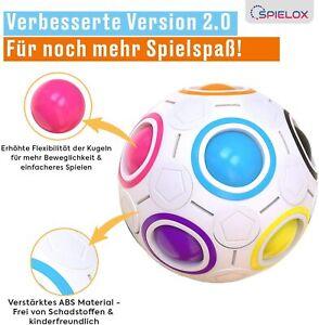 SPIELOX® Regenbogenball Magic Ball Knobelspiel Stress Ball Geschicklichkeit
