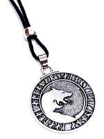 Wolf Rune Pendant Viking Asgard Odin's Heathen Geri Freki Beaded Lace Necklace