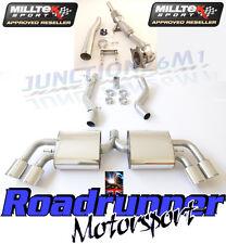 MILLTEK AUDI il MK2 Quattro Scarico Turbo Posteriore Inc per tubi di scolo & CAT non echeggiate