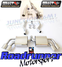 Milltek Audi TTS MK2 Quattro Exhaust Turbo Back Inc Downpipe & Cat Non Resonated