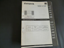 ORIGINALI service manual AIWA nsx-v100