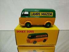 DINKY TOYS ATLAS 25B PEUGEOT D.3.A. - LAMPE MAZDA - YELLOW 1:43? - MINT IN BOX