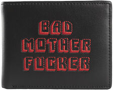 PULP FICTION REAL LEATHER EMBROIDERED BLACK RED BAD MOTHER F**KER WALLET