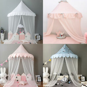 Prettyia Kids Girls Bed Canopy Hanging Mosquito Net Curtain Princess Bedding