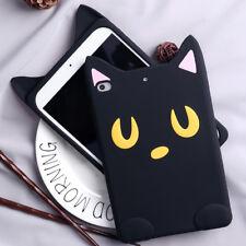 Hot Cartoon Sailor Moon Black Cat Silicone Soft Back Case For iPad Mini/Air/Pro
