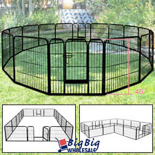 """40"""" Tall Folding 16-Panel Heavy Duty Metal Dog Playpen Exercise Fence Kennel"""