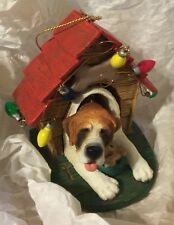 New Bobble Head Dog & Dog House Christmas Ornament