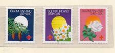 Finlandia Cruz Roja Flores Serie del año 1988 (DR-150)