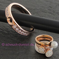 Nuevo-Melano twisted ring tracy CZ con zirkonias talla 60-acero inoxidable rotgold