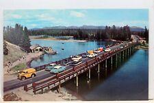 Yellowstone National Park Lake Fishing Bridge Postcard Old Vintage Card View PC