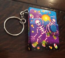 "Vtg 90's LISA FRANK Halloween Party Favor ""Dancing Skeletons"" Keychain *RARE*"