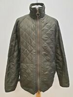 R550 MENS BARBOUR GREEN DIAMOND QUILTED JACKET UK L EU 54