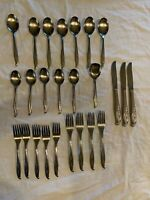 Stainless by International Bouquet Flatware Stainless Steel 25 Pieces