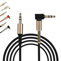 1Pc Jack For Audio Cable Adapter Male To Male 90 Degree Right Angle Flat Aux