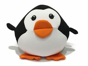 Penguin Pillow Soft and Cuddly Filled with Microbeads Cute Bedroom Accessory
