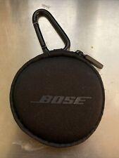 Original Bose Earbud Case, Zipper, Round, Carrying Carabiner Clip