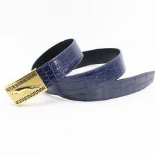 Genuine Alligator Crocodile Belt Skin Leather Men's - W4.0cm, WITHOUT JOINTED
