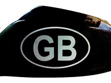 GB Car Stickers Wing Mirror Styling Decals (Set of 2), Chrome