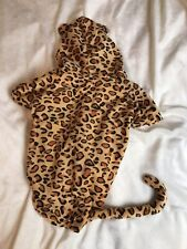 Adorable Hooded Leopard Halloween Costume w/ Tail for Dogs, Toy Breed, Size M