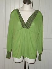 Lane Bryant Green Black Hoodie Sporty Plus Size Pullover Top Shirt 14/16 NWT