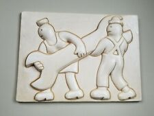Original  Men with Spanner Wall Relief by Tom Otterness Plaster