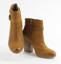 """Lucky Brand Sz 8 Camel Tan Leather 8.5"""" Distressed Booties 859W"""