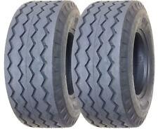 Set of 2 New ZEEMAX Heavy Duty 11L-16 Backhoe Implement Tires 12PR - 11069