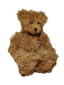 "First Main Brown Scraggles Teddy Bear Plush Sitting Classic Stuffed Animal 11"""
