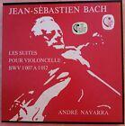 Bach Suites For Cello Solo Andre Navarra Calliope 3 LP Box NM