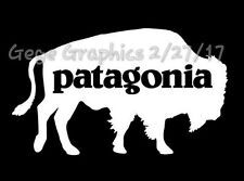 "Patagonia Bison Bear Buffalo Decal Sticker 8"" Inches wide Large"