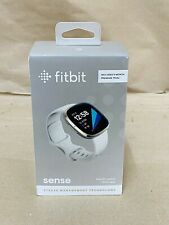 Brand New Fitbit Sense GPS Smartwatch (Lunar White / Soft Gold Stainless Steel)