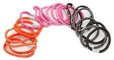 Zest 20 Birds & Flowers Mix Hair Bands Hair Elastics Brown Pink & Orange