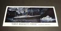 Twenty (20) Titanic Postcards - First Rockets Fired by J Whitman - Sidney, Ohio
