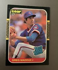 1987 Leaf - #35 Greg Maddux Rookie Card - Chicago Cubs
