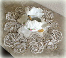 Doily Roses Jubilee 12 inch Lace Rose Flower Neutral Tones