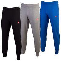 Nike Original Mens Joggers Fleece Logo Slim Fitt Black Royal Grey Trousers Botto