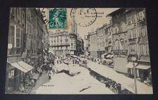CPA 1911 CARTE POSTALE FRANCE HAUTE-VIENNE LIMOGES PLACE DES BANCS