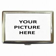 Tobacco Cigarette Case Metal Holder Custom Personalized Your Picture Photo Logo