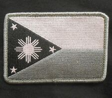 PHILIPPINES TACTICAL FLAG ARMY BLACK OPS SWAT VELCRO® BRAND FASTEN PATCH