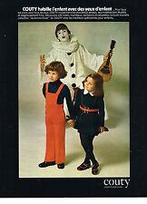 PUBLICITE  1973   COUTY  vetements enfants mode jusque 8 ans