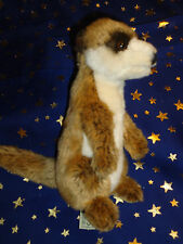 "Plush 8"" Wwf World Wildlife Fund MeerKat Brown Tan Tush Tags"