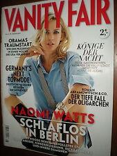 Vanity Fair De.NAOMI WATTS,BARACK & MICHELLE OBAMA, RICKY GERVAIS, SORAYA,yyy