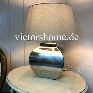 SilberneTischlampe silver bag tablelamp chrome mit Lampenschirm REDUZIERT